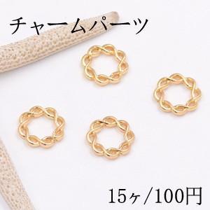 チャームパーツ チェーンリング 15×15mm ゴールド【15ヶ】|yu-beads-parts