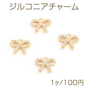 パールピアス カン付 2サイズ ホワイト/ゴールド yu-beads-parts