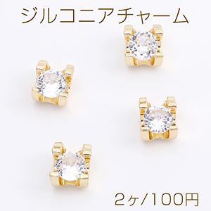 ピアス金具 丸型のミール皿 15×18mm カン付き ゴールド【6ヶ】 yu-beads-parts