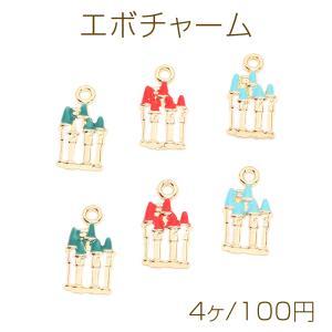 ピアス金具 ハートのミール皿 15×16mm カン付き ゴールド【10ヶ】 yu-beads-parts