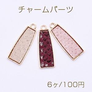 ピアス金具 正方形 アクリルストーン カン付 ゴールド【2ヶ】 yu-beads-parts