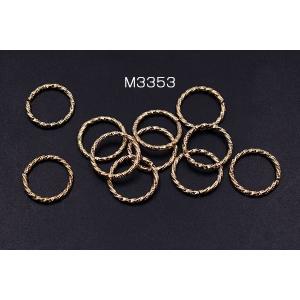 デザイン丸カン ツイスト 18mm ゴールド【20ヶ】|yu-beads-parts|02