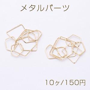 メタルパーツ 7連不規則フレーム ゴールド【10ヶ】|yu-beads-parts