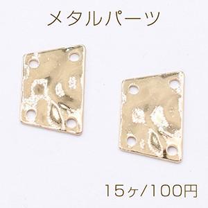 メタルパーツ プレート 台形 4穴 12×20mm ゴールド【15ヶ】|yu-beads-parts
