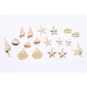 チャームパーツ 海洋生物シリーズ ヒトデ 21×26mm ゴールド【10ヶ】|yu-beads-parts|04