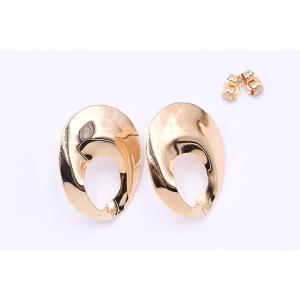 ピアス金具 抜きオーバル 21×26mm ゴールド【4ヶ】|yu-beads-parts|02