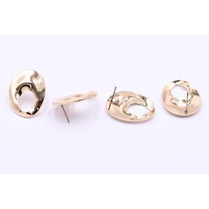 ピアス金具 抜きオーバル 21×26mm ゴールド【4ヶ】|yu-beads-parts|04