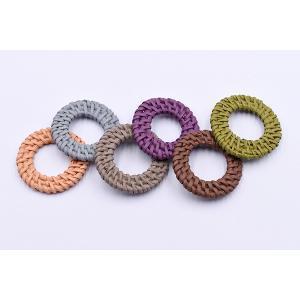染色ラタンパーツ サークル 35〜38mm チャームパーツ【2ヶ】 yu-beads-parts 03