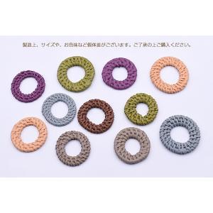 染色ラタンパーツ サークル 35〜38mm チャームパーツ【2ヶ】 yu-beads-parts 04