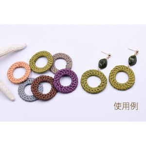 染色ラタンパーツ サークル 35〜38mm チャームパーツ【2ヶ】 yu-beads-parts 05