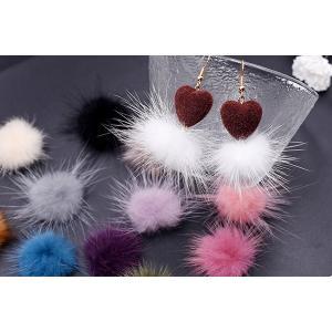 ミンクファー 天然素材 ボール 30mm 全14色【10ヶ】 yu-beads-parts 05