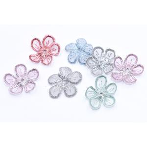 刺繍ワッペン 桜シリーズ 5弁花 花びら 全6色【10ヶ】|yu-beads-parts|04
