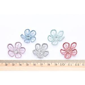 刺繍ワッペン 桜シリーズ 5弁花 花びら 全6色【10ヶ】|yu-beads-parts|05