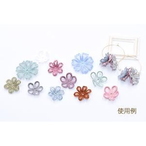 刺繍ワッペン 桜シリーズ 5弁花 花びら 全6色【10ヶ】|yu-beads-parts|06