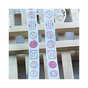 手作りテープ 模様69 幅16mm  レッド|yu-beads-parts|02