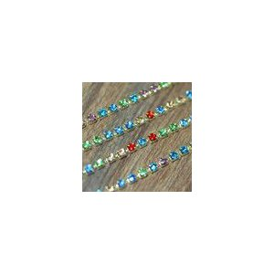 ラインストーンカップチェーン ゴールド/カラー|yu-beads-parts