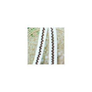 ブレード 幅約1.8cm クリーム/ブラウン 020(5m)|yu-beads-parts