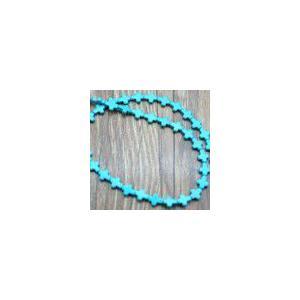 ターコイズ クロス 8x10mm(1連/約39ヶ)|yu-beads-parts