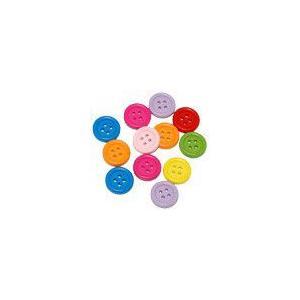 ウッドボタン カラーミックス 15mm yu-beads-parts
