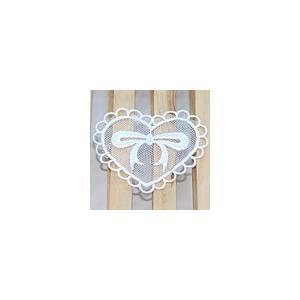 レースワッペンモチーフ ハート2 オフホワイト|yu-beads-parts