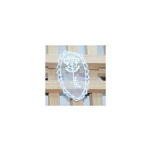 レースワッペンモチーフ 模様3 ホワイト|yu-beads-parts