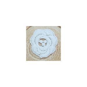 レースワッペンモチーフ フラワー14 クリーム|yu-beads-parts