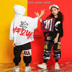 キッズ ダンス衣装 ヒップホップ HIPHOP ダンストップス 子供 男の子 セットアップ ジャズダンス ズボン 女の子 演出服 練習着 ステージ衣装 yu-tyann