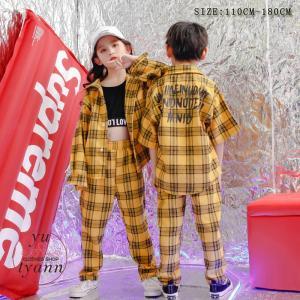 キッズ ダンス衣装 ヒップホップ HIPHOP 男の子 子供 長袖 セットアップ ジャズダンス ズボン 女の子 演出服 練習着 ステージ衣装 yu-tyann