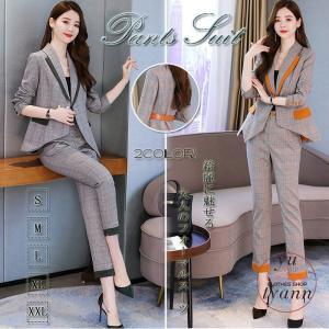 パンツスーツ レディーススーツ フォーマル オフィス ビジネス かっこいい ズボン 大きいサイズ 結婚式 ブラウス コート おしゃれ 20代 30代 40代 50代|yu-tyann