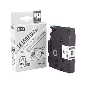 マックス PM-36用テープカセット9mm幅白に黒字 LM-L509BW yu-yu-stoa