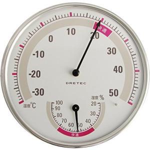 ドリテック(dretec) アナログ 温湿度計 ホワイト O-310WT yu-yu-stoa