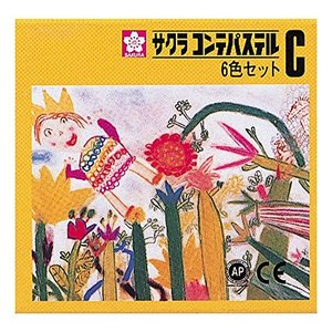 サクラクレパス コンテパステル 6色セットC CT6C|yu-yu-stoa