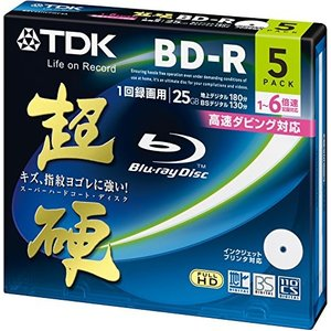 TDK 録画用ブルーレイディスク 超硬シリーズ BD-R 25GB 1-6倍速 ホワイトワイドプリンタブル 5枚パック 5mmスリムケース BRV25HCPWC5A|yu-yu-stoa