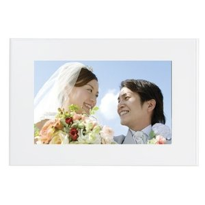 FUJIFILM デジタルフォトフレーム 7インチ 内蔵メモリー1GB 解像度800×480 ホワイト DP-700SH W|yu-yu-stoa