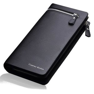 ファスナー付き メンズ 長財布 PUレザー 大容量 高級感溢れる財布 ギフトやプレゼント|yu-yu-stoa