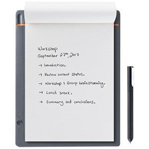 【ワコム】スマートパッド Bamboo Slate small(A5対応)ミディアムグレー ボールペンで好みの紙に書いて、デジタル形式のメモを作成 CDS610S yu-yu-stoa