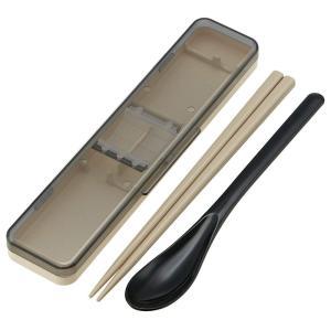 スケーター コンビセット 箸 スプーン セット レトロフレンチ ブラック 日本製 CCS3SA|yu-yu-stoa