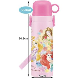 スケーター 子供用 水筒 コップ付 ステンレス 550ml プリンセス ディズニー|yu-yu-stoa
