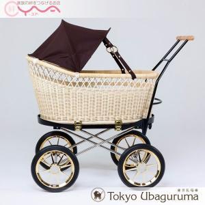 東京乳母車 プスプス ブラック本体+ブラウン ブラック テラコッタ幌 ベビーカー 双子用 二人乗り B型 A型 新生児 ベビーベッド yua-shop