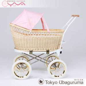 東京乳母車 プスプス スタンダード本体+水玉幌 ベビーカー 双子用 二人乗り B型 A型 新生児 ベビーベッド yua-shop