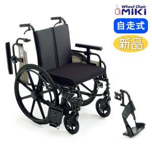 車椅子 ミキ MiKi ワイドタイプ KJP-4 介護 自走用|yua-shop