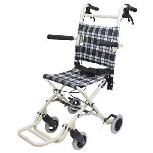 車椅子 軽量 折りたたみ ケアテックジャパン トラベルミニ CA-40 車いす 車イス 介助用 メーカー保証1年付