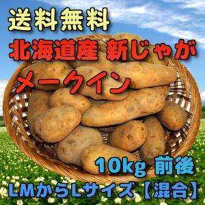 予約 北海道産 新じゃがいも メークイン 10kg 前後 (LMからLサイズ 【混合】)|yubari-shouten