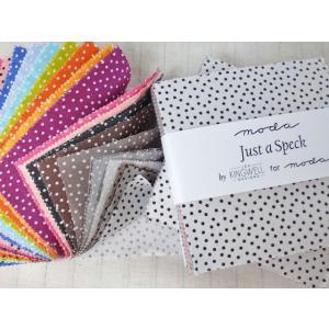 moda USAコットン プレカットクロス Just A Speck  by ジェン・キングウェル (メール便可/他店舗同一在庫限り)|yucasiho