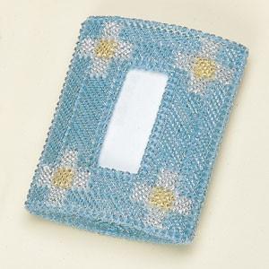 ポケットティッシュケース 「#4468(カラー・ブルー)」タカギ繊維パナミ手作りキット (メール便可/お取り寄せ)|yucasiho