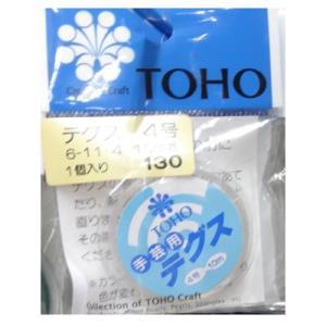 ビーズ用テグス 4号(太さ約0.33mm)10m巻 No.6-11-4  (メール便可/取り寄せ商品) |yucasiho