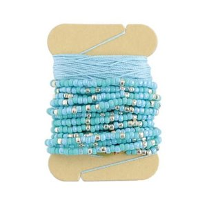 「No.1 ブルー」 アミアミAMICO(ビーズクロッシェ用糸セット)-オリムパス (メール便可/お取り寄せ)|yucasiho