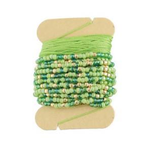 「No.3 グリーン」 アミアミAMICO(ビーズクロッシェ用糸セット)-オリムパス (メール便可/お取り寄せ)|yucasiho