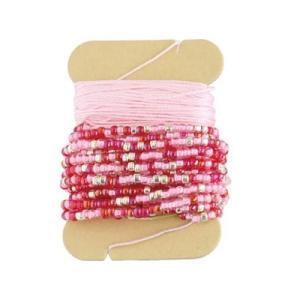 「No.5 ピンク」 アミアミAMICO(ビーズクロッシェ用糸セット)-オリムパス (メール便可/お取り寄せ)|yucasiho