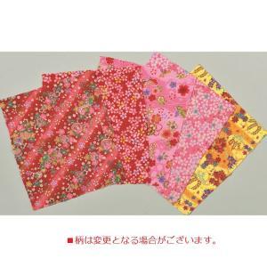 ちりめん友禅カットクロスアソートセット 「赤系柄ちりめん CA-6」 タカギ繊維パナミ(メール便可/お取り寄せ)|yucasiho
